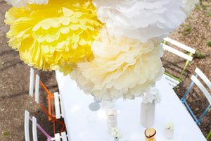 Set of 3 Sunshine Tissue Paper Pom Poms