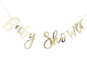 Gold Foiled 'Baby Shower' Banner