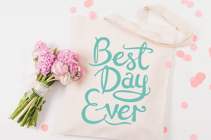 Best Day Ever' Canvas Tote bag