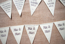 String of Wordy Paper Bunting