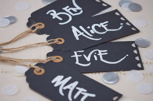 Set of 10 Chalkboard Luggage Tags