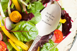 Thank you Bridesmaid' Silver Serving Spoon