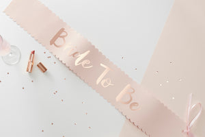 Rose Gold 'Bride to Be' Hen Party Sash
