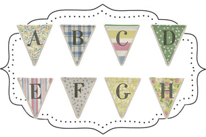 Fabulous Fabric Alphabet Bunting