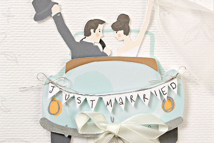 Just Married' Wedding Car Card