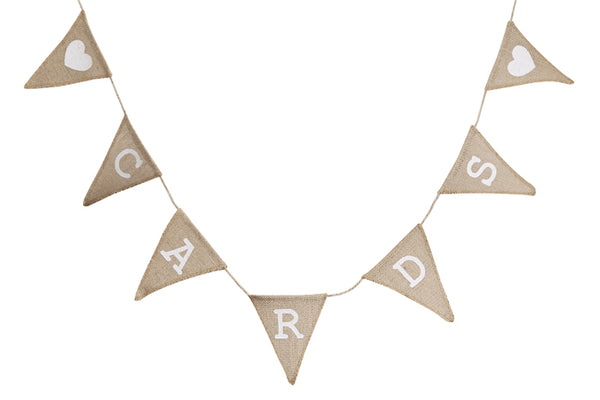 'Cards' Hessian Bunting