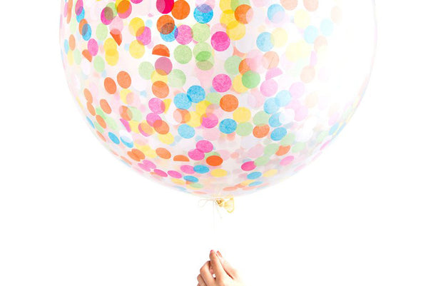 Multi-Coloured Jumbo Confetti Balloon