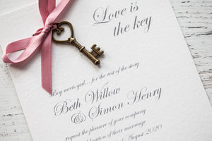 Love is the Key DIY Invitation Pack