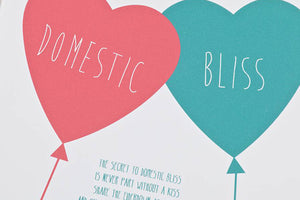 Domestic Bliss' Poem Print