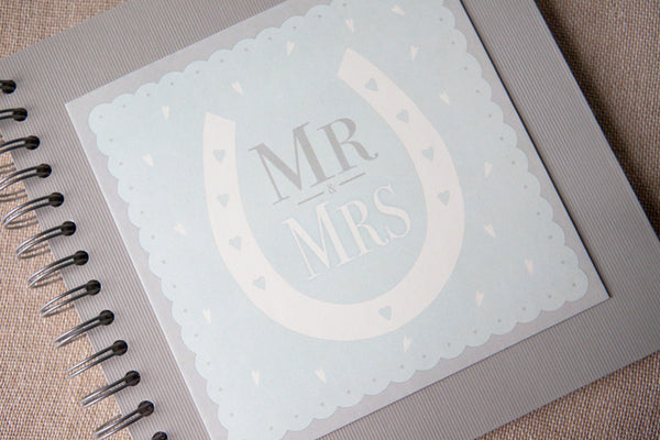 Mr & Mrs' Lucky Horseshoe Guest Book