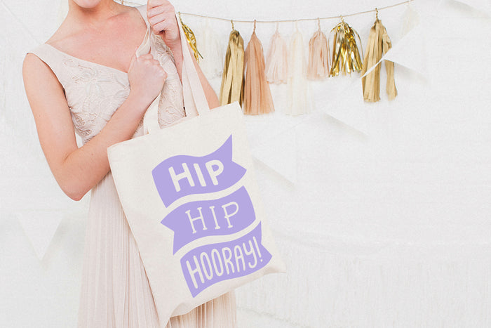 Hip Hip Hooray!' Canvas Tote bag