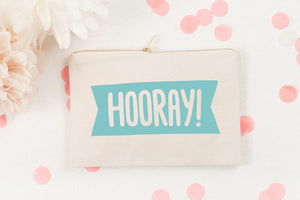 Hooray' Canvas Pouch