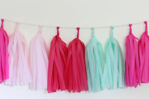 Hot Tissue Paper Tassel Garland Kit