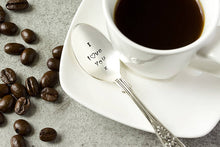 I l♥ve you' Silver Plated Teaspoon