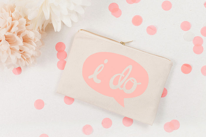 I Do' Canvas Pouch