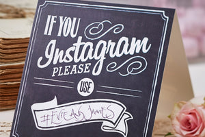 If You Instagram' Table Tent Signs