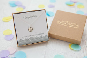Bridesmaid's Initial Sterling Silver Necklace