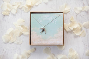 'Will you be my Bridesmaid?' Swallow Necklace