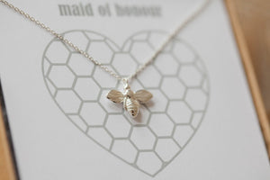 The Bee's Knees' Silver Necklace