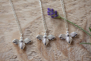 Personalised Silver 'Bride To Bee' Necklace