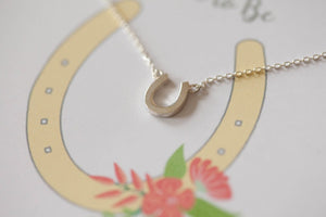 Lucky Sterling Silver Horseshoe Necklace