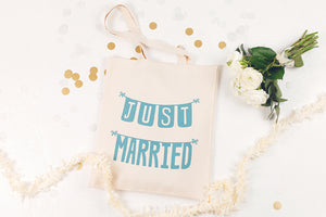 Just Married' Canvas Tote Bag