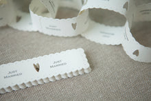 Just Married' Paper Chain