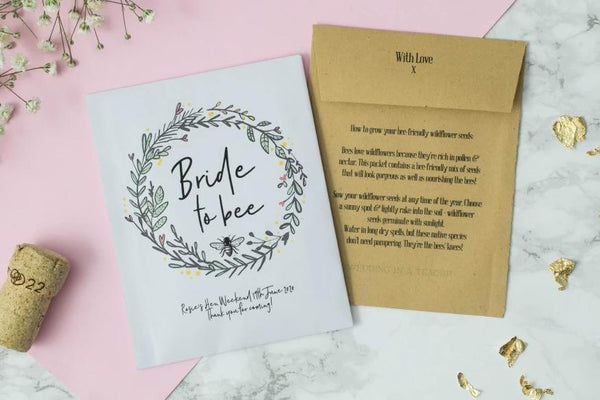 'Bride To Bee' Hen Party Seed Packet Favour