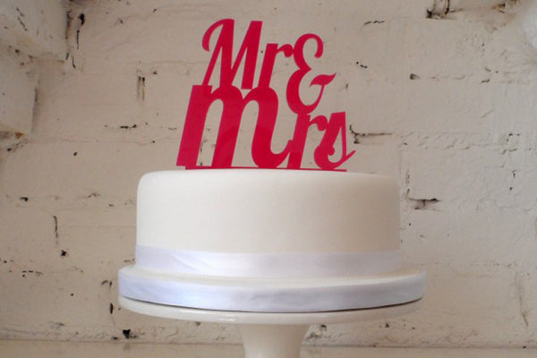 Mr & Mrs' Cake Topper