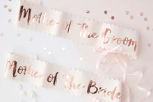 Rose Gold 'Mother of the Bride/Groom' Hen Party Sashes