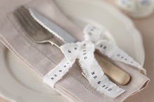 'Mr & Mrs' Hessian Style Frayed Ribbon