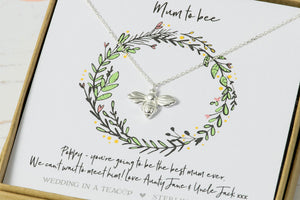Personalised Silver 'Mum To Bee' Necklace