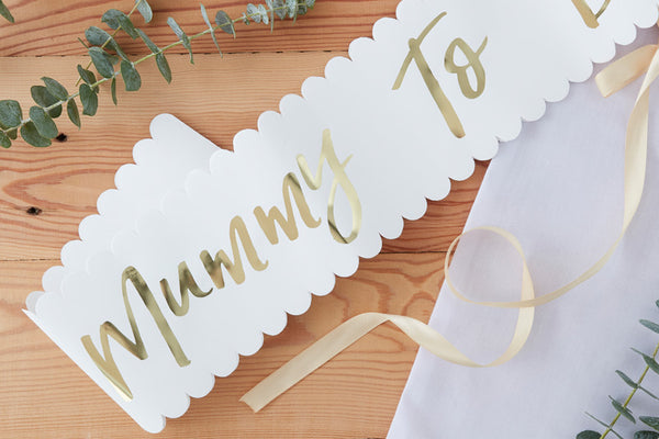 Gold Foil Mummy to Be Sash