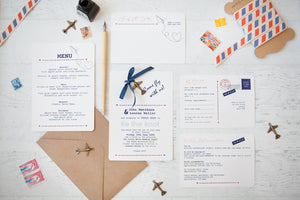 Par Avion DIY Invitation Pack