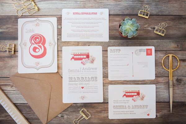 Magic Bus Wedding Stationery
