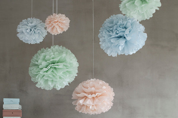 Set of 3 Pastel Perfect Tissue Paper Pom Poms