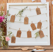 Luggage Tag Frame Alternative Guest Book
