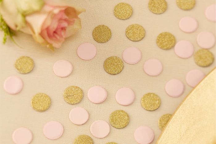 Pink & Gold Shimmer Table Confetti