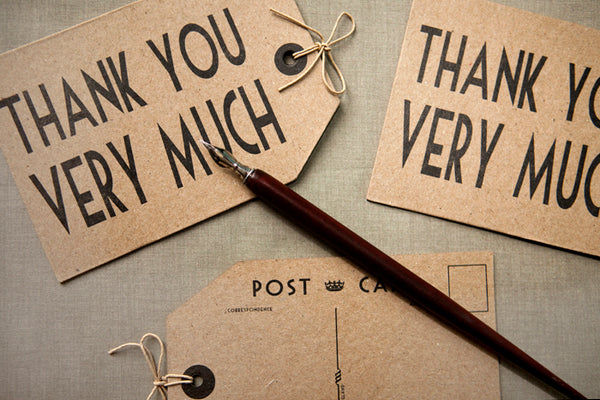 Thank You Very Much' Luggage Tag Postcard