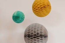 Set of 3 Retro Tissue Paper Honeycomb Balls