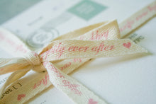 Happily Ever After' Cotton Ribbon
