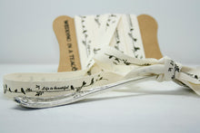 Life is Beautiful' Love Birds Cotton Ribbon