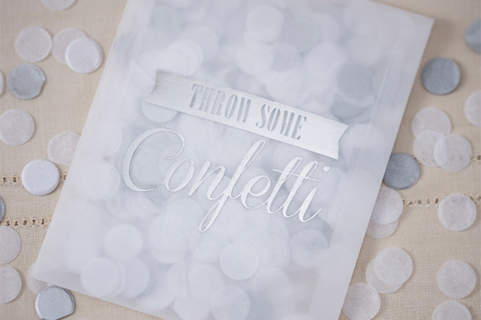 White & Silver 'Throw Some' Confetti