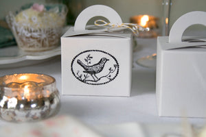 Set of 10 Oatmeal Card Favour Boxes