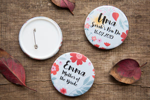 Personalised Autumn Romance Big Badge or Mirror