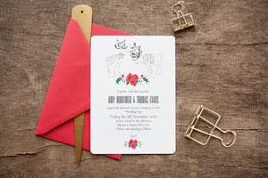 Wintry Reindeer Wedding Stationery