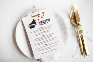 Music Lovers Wedding Stationery