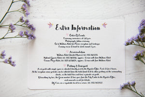 Butterfly and Bee Wedding Stationery
