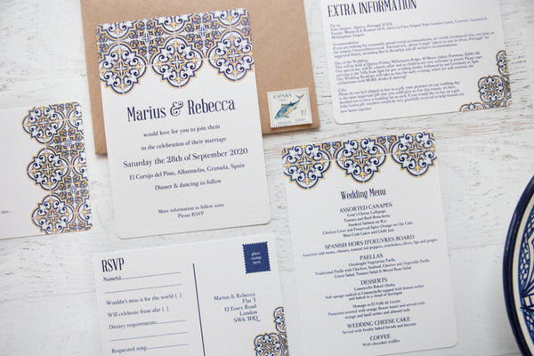 Spanish Tile Wedding Stationery