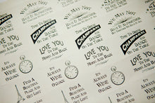 Sheet of 30 Warm & Quirky Sayings Stickers